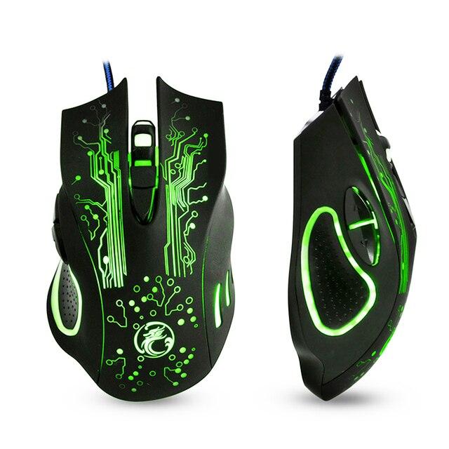 Игровая мышь USB мышь геймер 5000 dpi компьютерная мышь игровая Бесшумная игровая мышь Проводная 6 кнопок оптическая Mause Gamer для ПК ноутбука