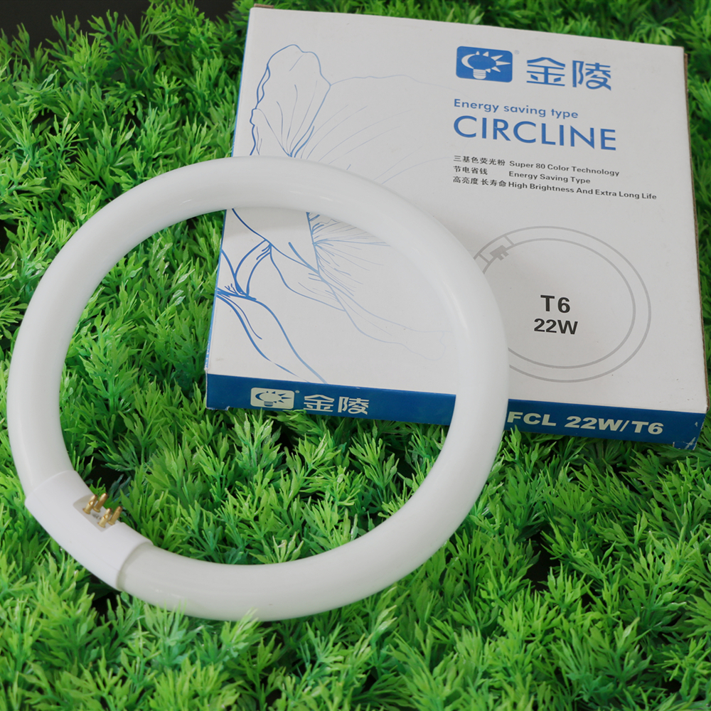 Fluorescent Tube Circular Lamps Circle Energy-saving Round Diameter 20mm FCL T6 840 22/32W 2pcs