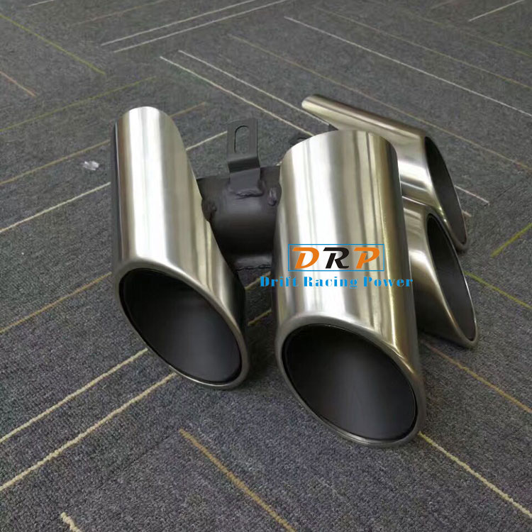 Hot!Best Quality New Type of  Wire drawing Stainless Steel Car Rear Exhuast Muffler Tail Fit on 17-18 Porsche Panamera steel casing pipe