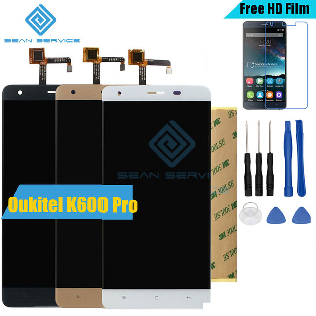 """For Original Oukitel K6000 Pro LCD in Mobile phone LCD Display+Touch Screen Digitizer Assembly lcds +Tools 5.5"""" 1920x1080P stock"""