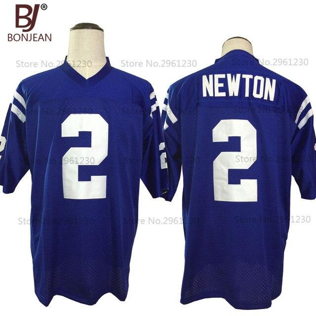 f2b7180224 Cheap New American Football Jersey Cam Newton 2 Westlake Escola Casa Azul  Camisa De Futebol Retrocesso