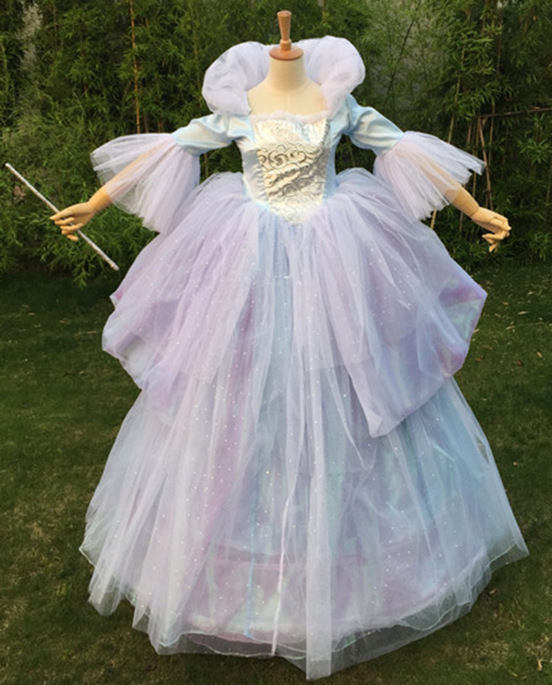 Cinderella Princess Fairy Godmother Dress Cosplay Costume Custom Made Halloween Cosplay Z1001