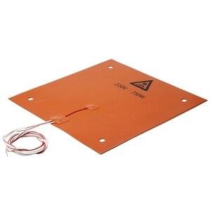 Image 5 - 750w 220v 31*31 cm 3D מדפסת חלקים ואבזרים סיליקון מחומם מיטה כתום צבע חימום Pad עבור CR 10 3D מדפסת מיטת חורים