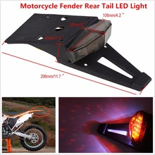 Smoked Rear Fender LED Brake Tail Light font b Lamp b font W Bracket for Off