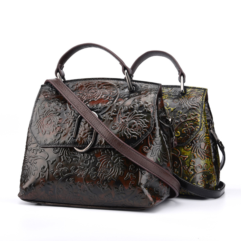 Genuine Cowhide Leather Women's Handbag Crossbody Shoulder Sling Bag Casual Tote Pouch Messenger Bag LS9050 women handbag shoulder bag messenger bag casual colorful canvas crossbody bags for girl student waterproof nylon laptop tote