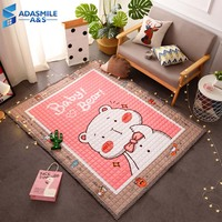 Nordic Cartoon Thick Carpet Kids Room Baby Crawling Play Mat Home Decor Bedroom Parlor Living Room Unicorn Large Rug Carpets