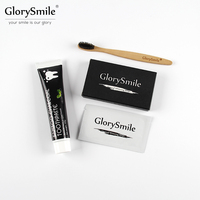 Teeth Whitening Kit Organic Pure Coconut Activated Charcoal Strips Bamboo Toothpaste Oral Care Remove Stain