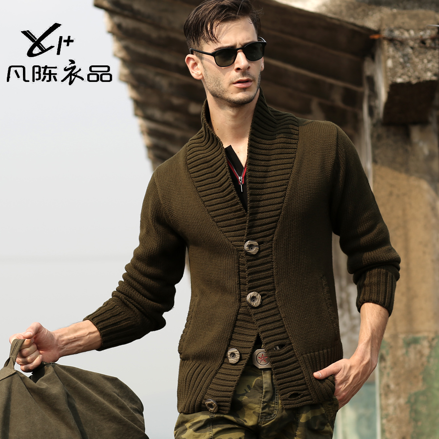 2013 mens military uniform Needle cotton sweater knit cardigan ...