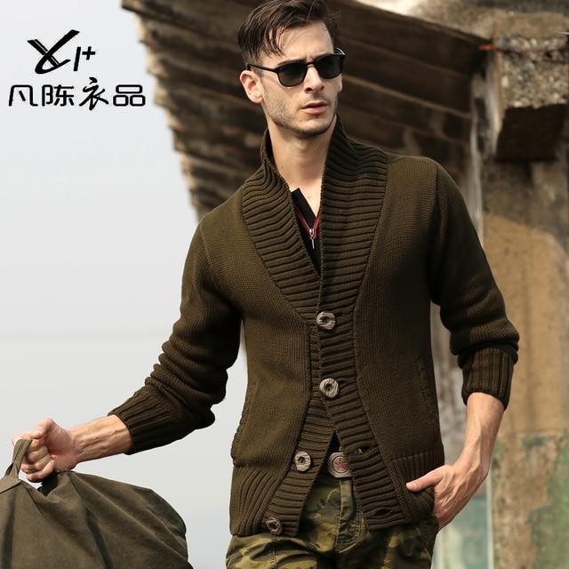 2013 mens military uniform Needle cotton sweater knit cardigan jacket men's casual lapel sweater plus size S-XXL H1859