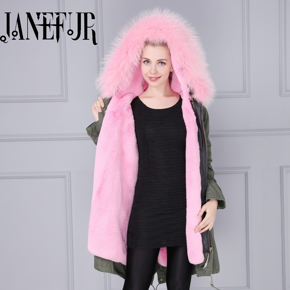 Women Fur Coat Design Real Raccoon Fur Parkas Coat for Women Hooded Thick Big Bont Parka MIX Colors Fast Shipping 2017 new arrival pink withblack fur parka for women real raccoon fur big bont parka thick and warm faux fur liner coat