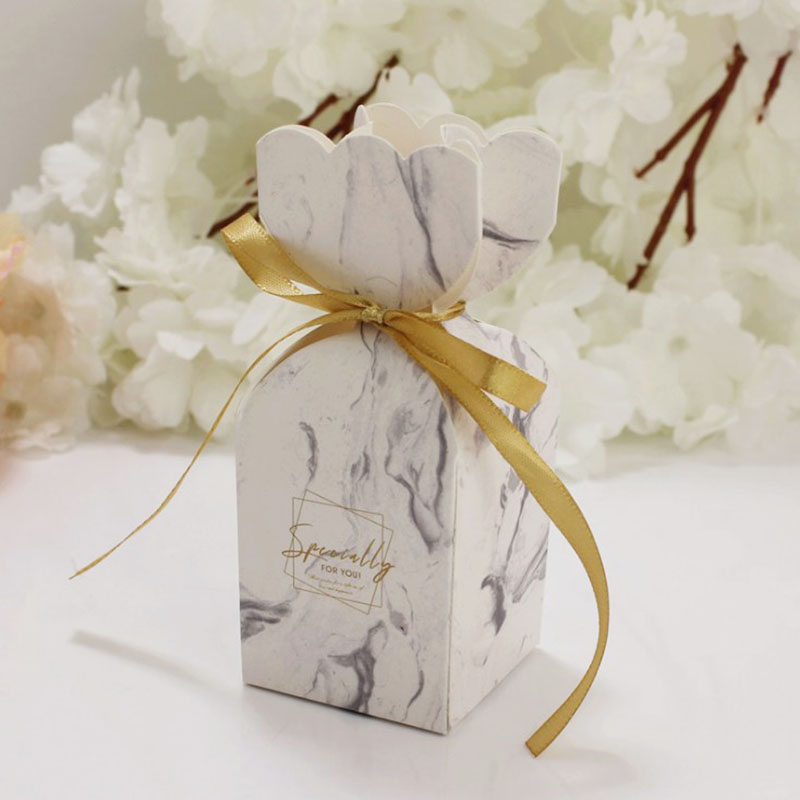 10pcs/lot Marble Design Wedding Dragees Box Flower Wedding Party Gift Boxes Wedding Favors Gift Boxes for Wedding Events