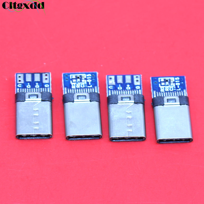 Cltgxdd DIY OTG USB-3.1 Welding Male Jack Plug USB 3.1 Type C Connector With PCB Board Plugs Data Line Terminals For Android