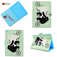 MDFUNDAS Tablet Case For Apple iPad 2017 9.7 Coque Butterfly Flip Leather Cover For iPad 2017 9.7