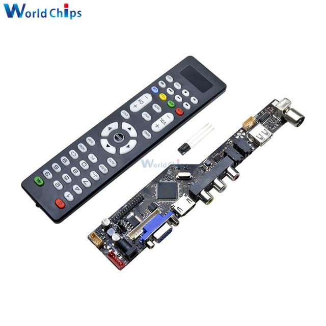Универсальный ЖК-контроллер плата разрешение ТВ материнская плата VGA/HDMI/AV/tv/USB HDMI интерфейс драйвер платы