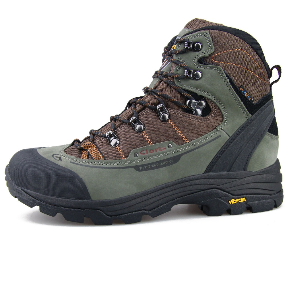Clorts impermeable caza Vibram suela antideslizante montaña Zapatos hombre Botas de cuero genuino para hombres 3A003