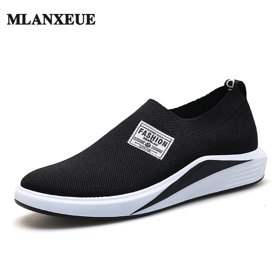 MLANXEUE Brand Designer Mesh Shoes Men 2017 Autumn Casual Shoes Male Breathable Footwear Man Slip on Flats Loafers Round Toe chilenxas 2017 summer new fashion air mesh shoes men casual footwear breathable slip on light loafers round toe sweat absorbant