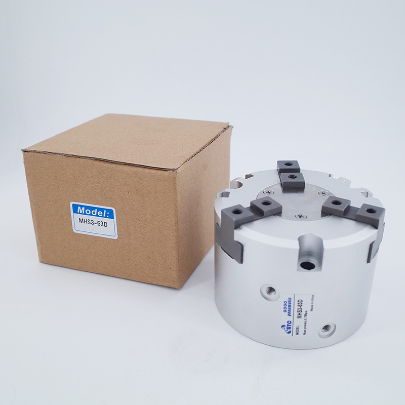 GOGO High quality double acting pneumatic gripper MHS3 63D SMC type Parallel Style Air Gripper 3