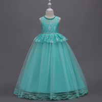 Elegant Stunning Rhinestone Organza Pleated Ruffled Flower Girl Wedding Size 5 To 16 Dresses Children Girls