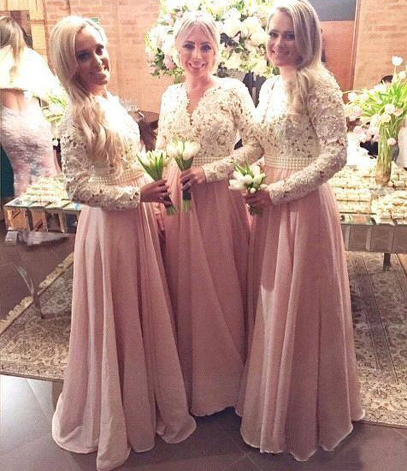 Muslim Wedding Bridesmaid Dresses : De festa lace prom dresses muslim islamic wedding party dress