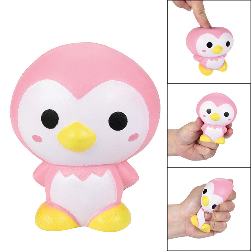 CCCZQ toy 9cm Cute Pink Penguin Cartoon Scented Squishies Charm Slow Rising Squeeze Toy Charm Discount wholesale MAY 23