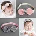 2Colors Baby Girls Rabbit Ears Grenadine Bowknot with Shiny Star Headbands Kids Children DIY Crafts Hair Decorative Accessories