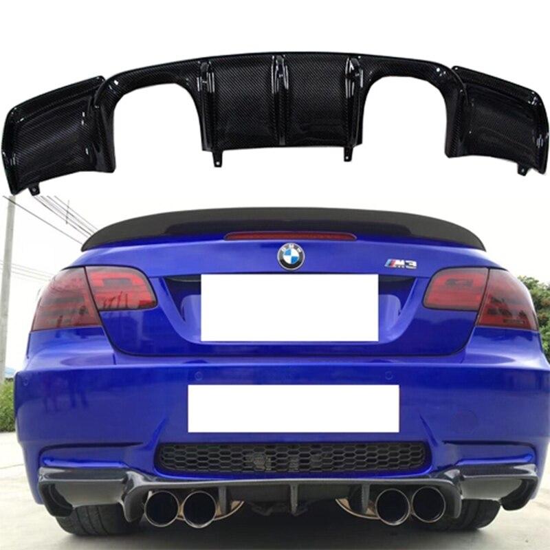 E92 M3 Vorsteiner Style Auto Car Carbon Fiber Rear Body Kit Bumper Lip Diffuser for BMW E92 M3 Bumper 2006-2013
