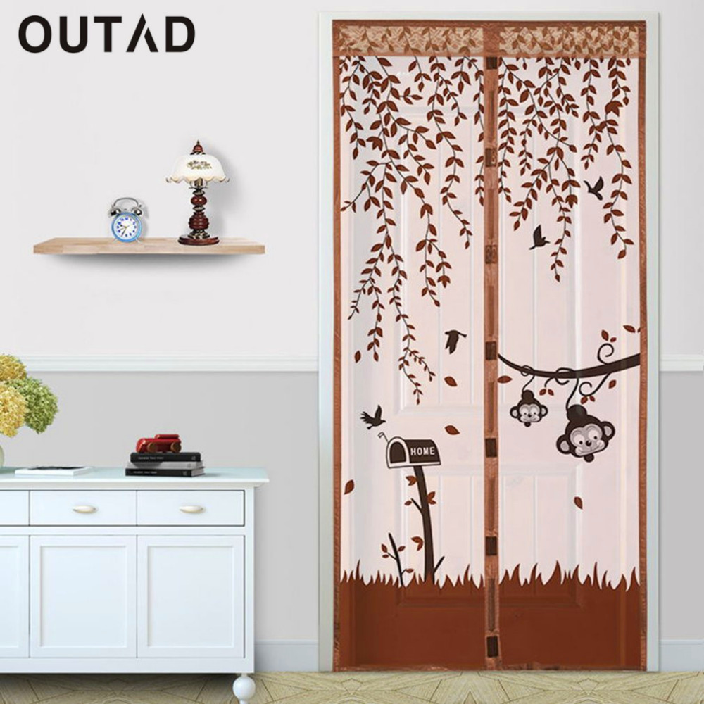 NewOUTAD Durable Magnetic Mesh Screen Door Mosquito Net Curtain Protect Kitchen Window Organza Scree 90*210cm/100*210cm 4 Colors