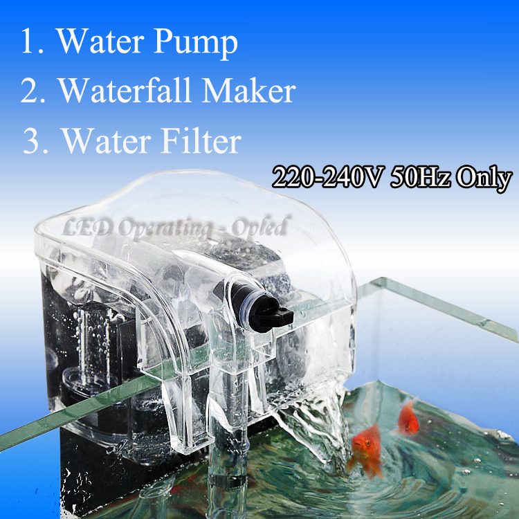 Aquarium filter external hang up filter water pumps for Waterfall pumps and filters