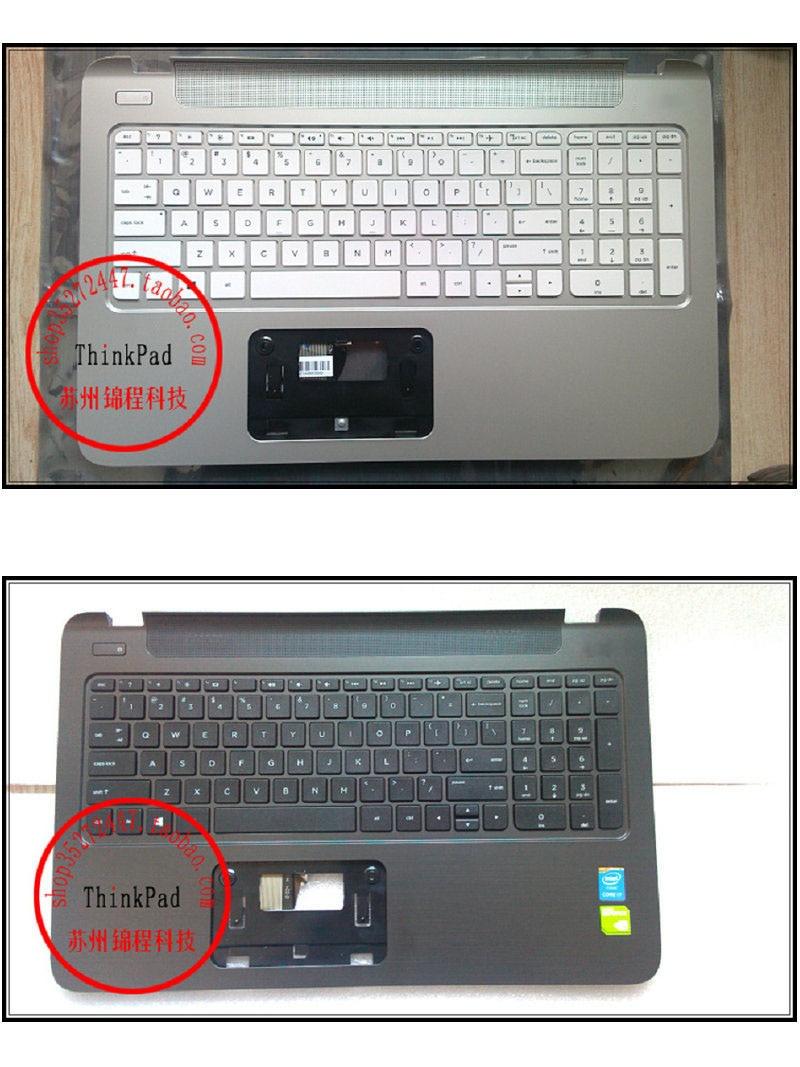 New English keyboard For HP Envy 15-k 15-K000 763578-001  US laptop Keyboard Palmrest COVER