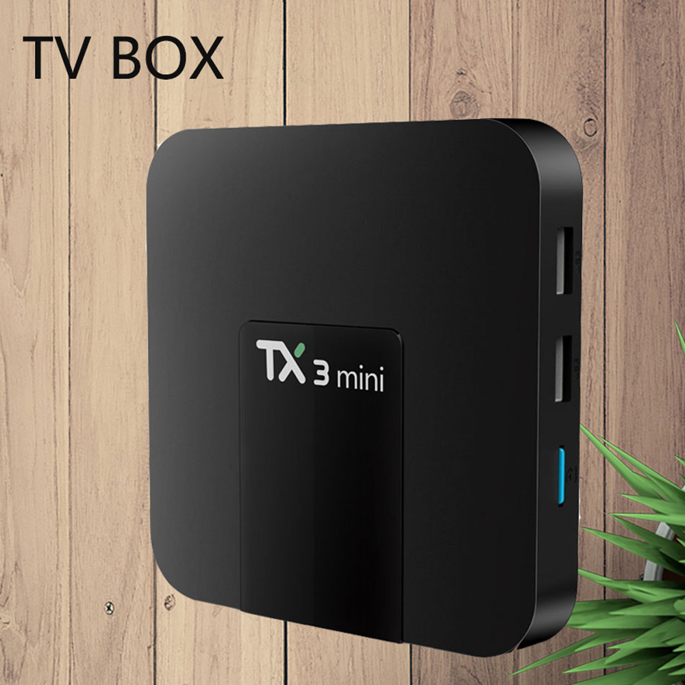 Smart TV Caja TX3 mini Android 7,1 2 GB 16 GB Amlogic S905W Quad Core Set top BOX h.265 4 K WiFi IPTV caja TX3mini 1 GB 8 GB