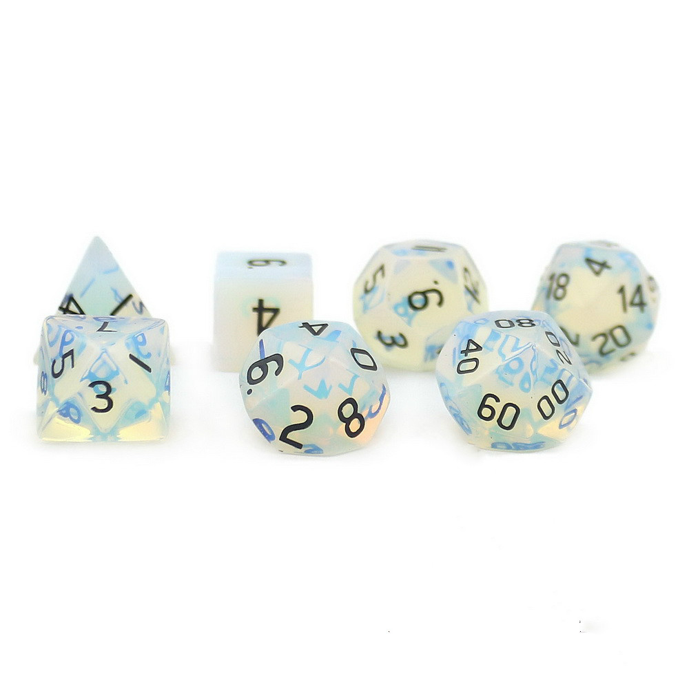 New Foreign Trade Products Dunhuang Dungeon D20 Natural Opal Multifaceted Digital Dice 7 Sets плед foreign trade 200 220cm
