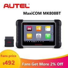 Autel MaxiCOM MK808BT OBD2 Car Diagnostic Tool Scanner for Cars Auto ECU Programmer Key Connector Stethoscope Tools