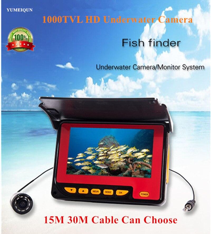 20M 30M Professional Fish Finder Underwater Fishing Video Camera Monitor 150 Degree Angle 4 3 HD