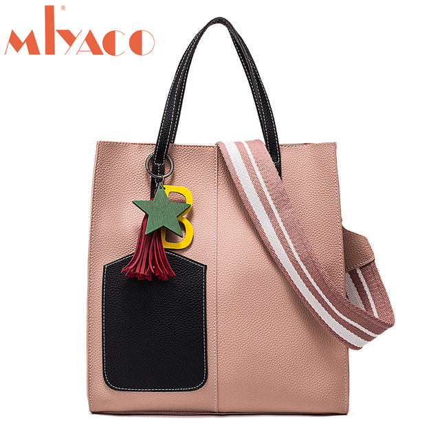 Miyaco Leather Handbags Women Bag High Quality Casual Female Bags Trunk Tote Spanish Brand Shoulder