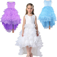 Purple Blue White Summer Girls Dress Wedding Party Princess Christmas Dresse For Girl Party Costume Kids