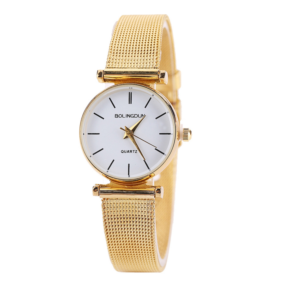 2017 High Quality Watch Relogio Feminino Luxury Brand Women Dress Watches Simple Quartz Watch Gold Watches Womans Waches relogio feminino luxury brand women dress watches steel quartz watch diamonds gold watches for womans wrist waches