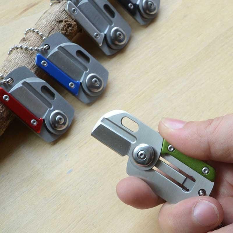 Hordozható zseb EDC Mini összecsukható kés kártya hadsereg - Kézi szerszámok - Fénykép 6