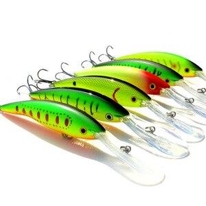 Image 1 - 2 adet uzun dil zoka yapay balık 14g 13.5cm sert yem yüzen Crankbait Pesca Topwater Wobblers balık olta takımı