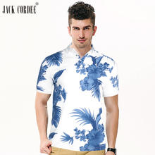 """""""JACK CORDEE"""" gėlių spausdinimas """"Polo"""" marškinėliai vyrams medvilniniai kvėpuojantys atsitiktiniai polo marškiniai marškinėliai trumpi rankoviai """"Polo Homme"""" markės Polos vyrai"""