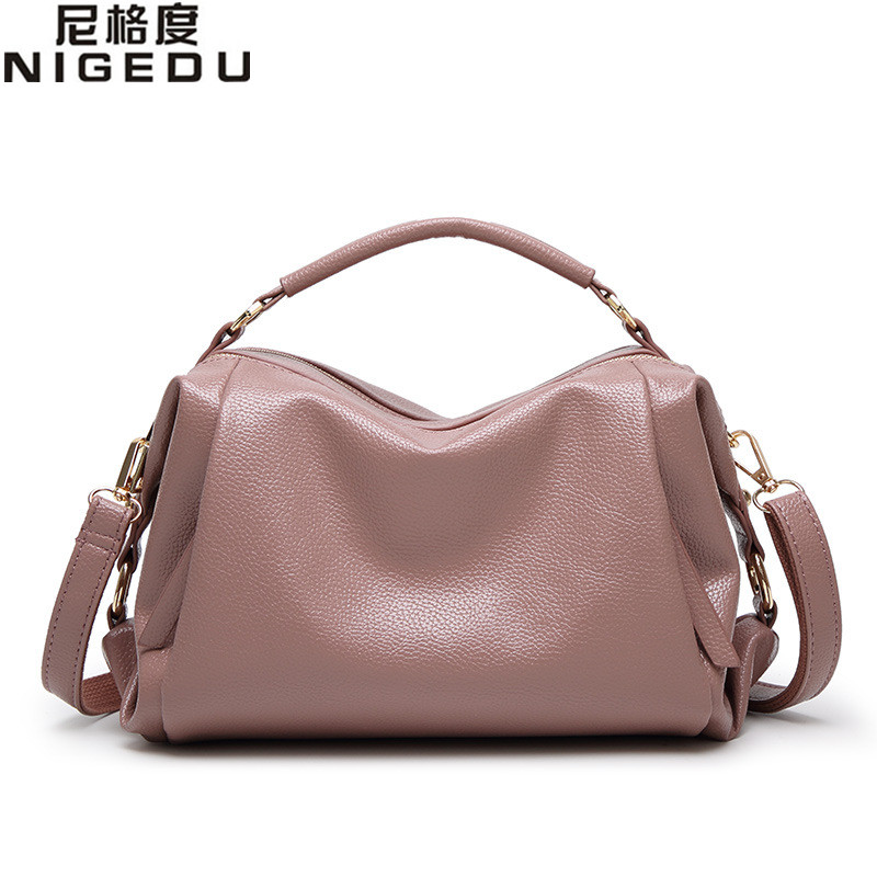 NIGEDU brand 2017 new Boston Women handbags PU Leather shoulder Crossbody bag Tote Messenger bag for Ladies Totes bolsa feminina kadell new luxury brand bag women leather handbags matte pu leather ladies tote bolsa vintage messenger crossbody shoulder bags