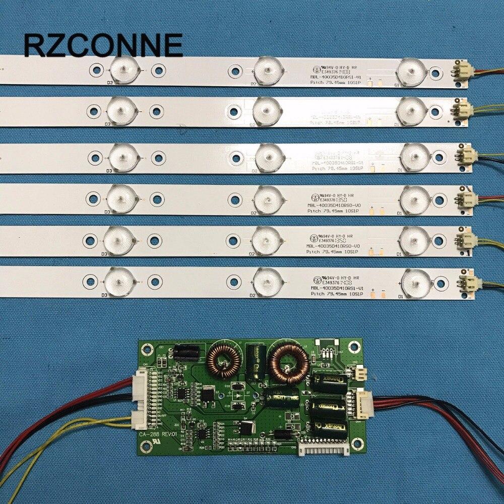 775mm LED Backlight Lamps kit w Optical Lens Fliter for 39 40 TV Monitor Panel 12pcs