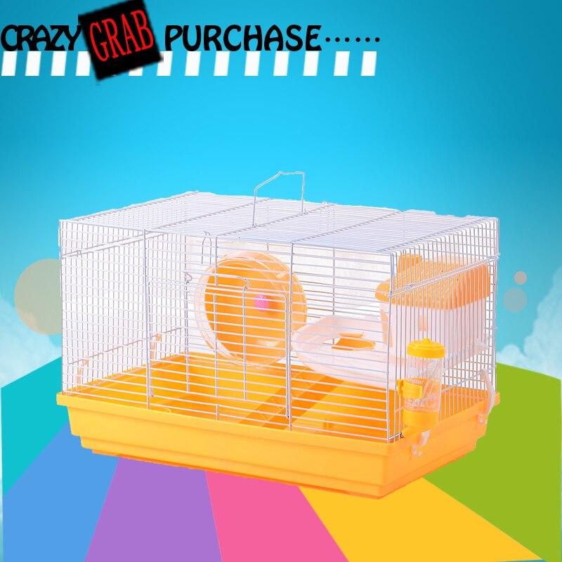 Cage de cochon d'inde à assembler à chaud qui voyage maison de Hamster grand espace petite Cage pour animaux de compagnie accessoires de Hamster fournitures de hérisson