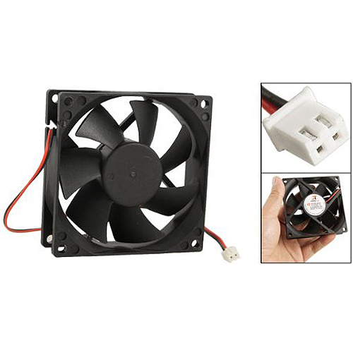 YOC Hot DC <font><b>12V</b></font> Black <font><b>80mm</b></font> Square Plastic Cooling <font><b>Fan</b></font> For Computer <font><b>PC</b></font> Case image