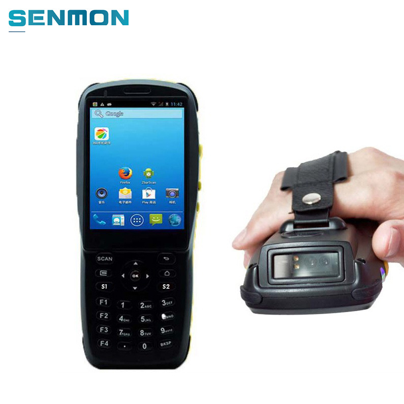 2D Wireless Bluetooth Wifi Android Barcode Scanner Portable NFC Mobile Data Terminal Collector Android Rugged PDA Handheld 2d wireless barcode area imaging scanner 2d wireless barcode gun for supermarket pos system and warehouse dhl express logistic