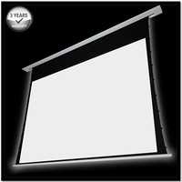 120 16 9 Recessed In Ceiling Tab Tensioned Electric Projector Screen With 12v Trigger Remote Control