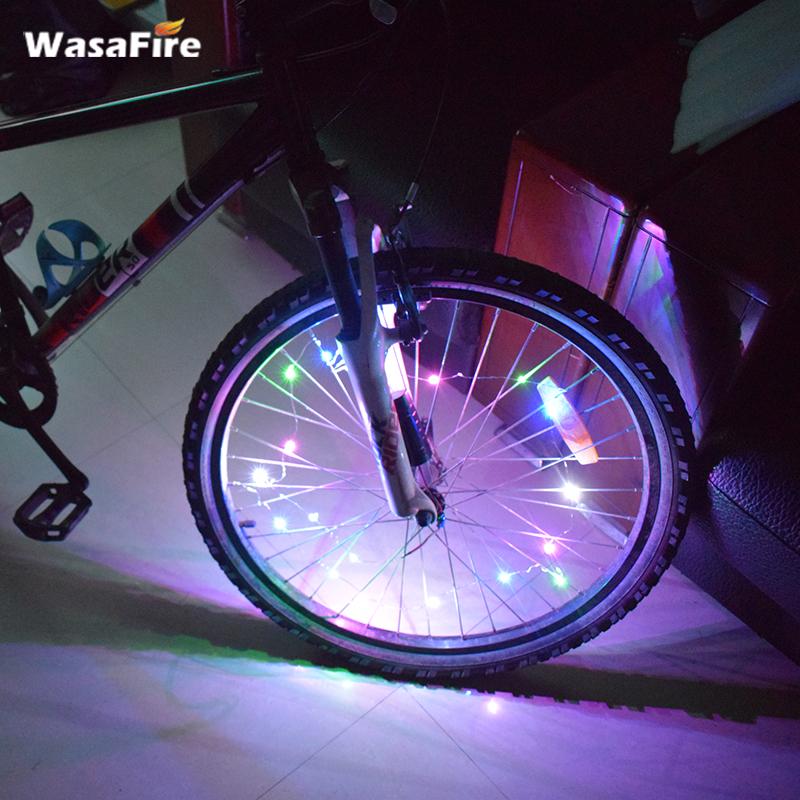 HOT Sales Colourful Bicycle Light Mini 18 LEDs 3 Modes Wheel Spokes Bike Accessories Power By 3*AAA Batteries