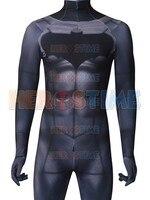 Batman v Superman: Dawn of Justice Batman Zentai Bodysuit 3D Print Cosplay Costumes Batman Spandex Lycra Suit Custom Made