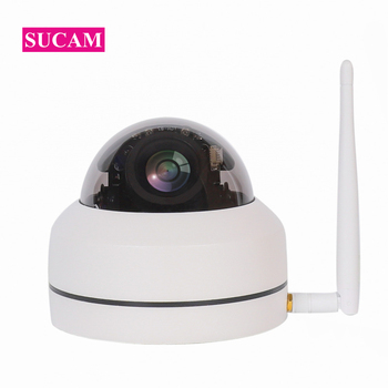 1920*1080 2MP WiFi PTZ Camera 4XZoom Auto High Resolution Waterproof Wireless  Infrared 1080P IP Dome Camera CamHi APP Indoor
