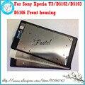 Для Sony Xperia T3/D5102/D5103/D5106 Новые Оригинальная передняя ЖК-дисплей Рамка крышки случая + клей Ремонт Часть Бесплатная доставка