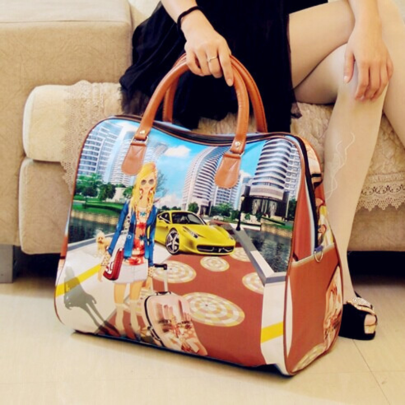 2018 hot sale famous brands women s cartoon bag women luggage travel bags  large duffle bag for women spain bolsos ZL99-in Travel Bags from Luggage   Bags  on ... 5ae0148978cd3